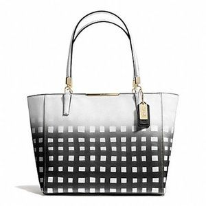 Coach Madison East Wes Tote Gingham Saffiano 30118